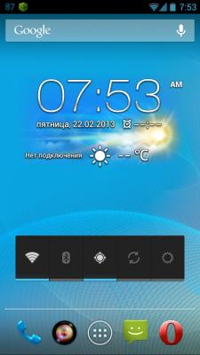 Asus Padfone 2 Weather&Clock Widget for all devices